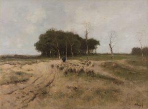 Anton Mauve, Heide bij Laren, 1887