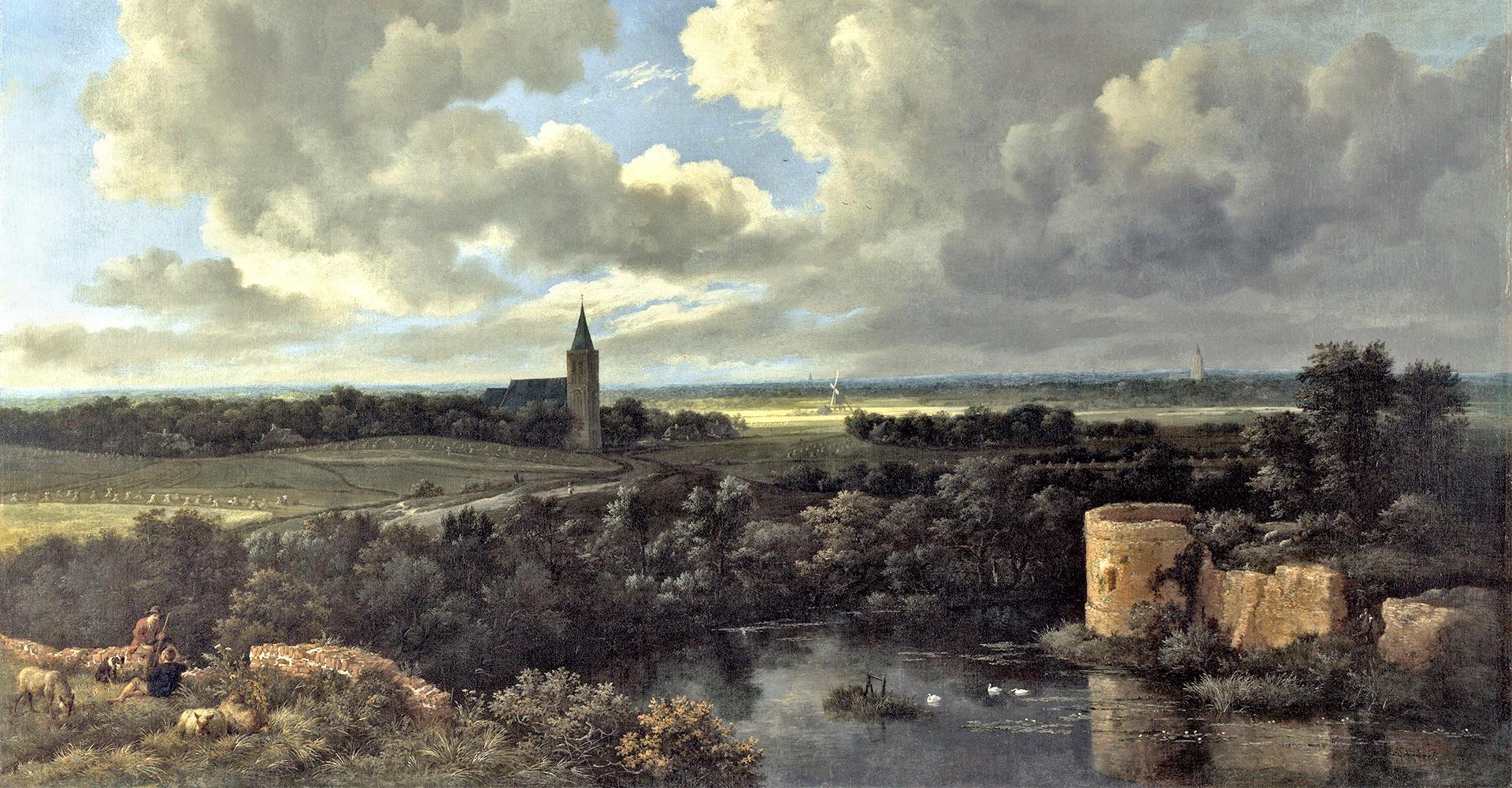 schilderij Jacob van Ruisdael
