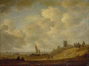 Jan van Goyen, Strand bij Egmond-aan-Zee, 1645