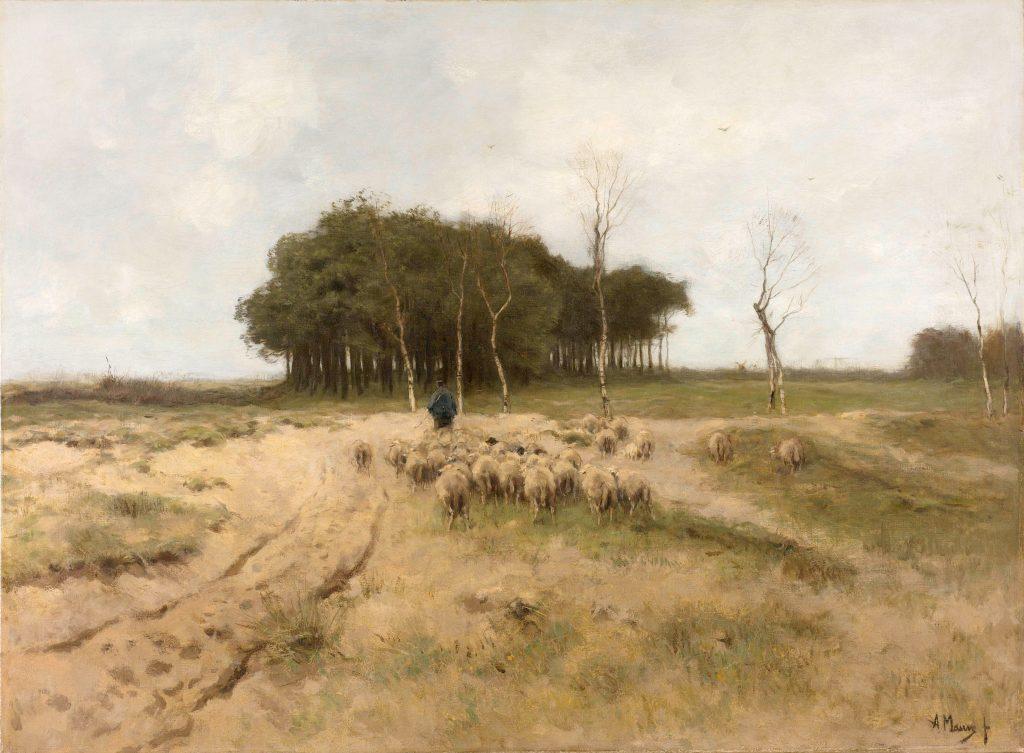 Anton Mauve, Heide bij Laren, 1887_bewerkt