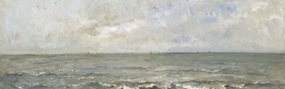 Zeegezicht, Charles-François Daubigny, 1876 // Bron: Rijksmuseum